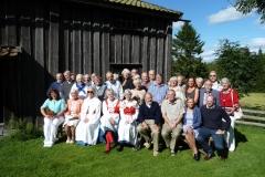 Flertalet deltagare vid släktdagen