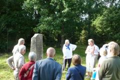 Vid minnesstenen över Peter Andersson i Högkil
